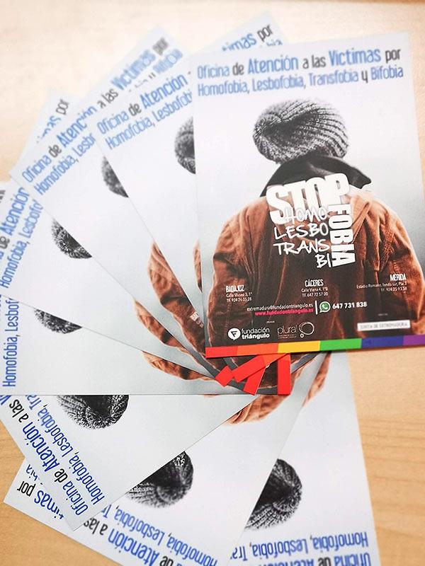 Flyer Oficina de Atención a las Víctimas por Homofobia, Lesbofobia, Transfobia y Bifobia